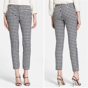 Adrianna Papell Gingham Checkered Print Pants 14
